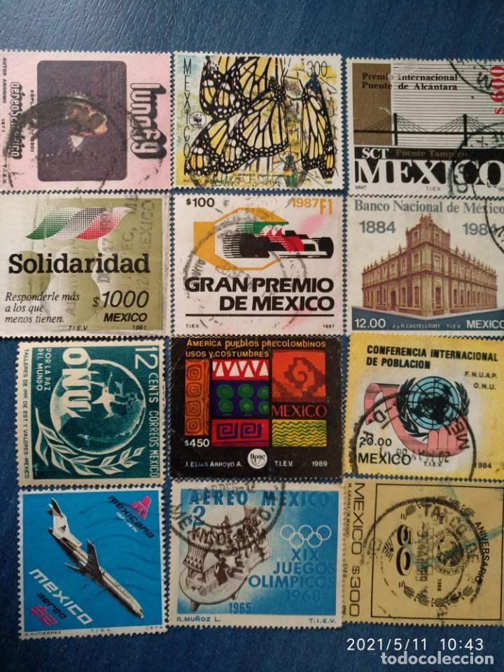 Sellos: MEXICO 44 SELLOS USADOS DIFERENTES @ - Foto 3 - 262366920