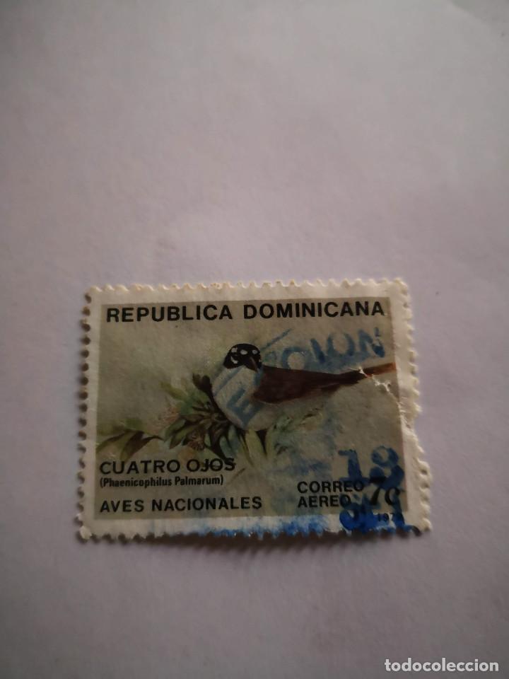 SELLO REPUBLICA DOMINICANA AVES NACIONALES CORREO AEREO 7C (Sellos - Extranjero - América - México)