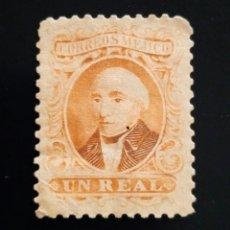Sellos: MEXICO 1 REAL, MEGUEL HIDALGO AÑO 1864.. Lote 264057510