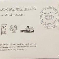 Sellos: O) 1999 MÉXICO, ÁGUILA HARPÍA, HABITAT, CONSERVACIÓN DE LA NATURALEZA, AVES CAZADORAS, SIERRA MADRE,. Lote 269173108