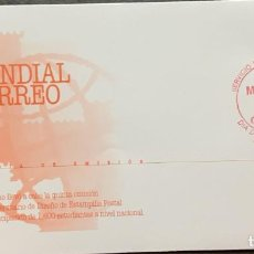 Sellos: O) 1999 MEXICO, WORLD POST DAY, EMBLEM, FDC XF. Lote 269174033