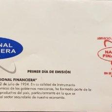 Sellos: O) 1999 MÉXICO, BANCO NACIONAL, ANIVERSARIO, FDC XF. Lote 269179118