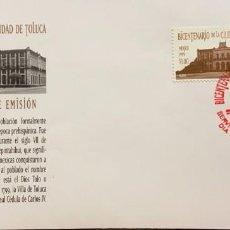 Sellos: O) 1999 MÉXICO, PALACIO DE GOBIERNO, ARQUITECTURA, CIUDAD DE TOLUCA, FDC XF. Lote 269179348