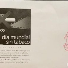 Sellos: O) 2003 MÉXICO, DÍA MUNDIAL CONTRA EL TABACO, FDC XF. Lote 269179533