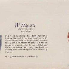 Sellos: O) 2003 MÉXICO, DÍA INTERNACIONAL DE LA MUJER, FDC XF. Lote 269180093