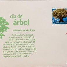 Sellos: O) 1999 MÉXICO, PROTECCIÓN Y USO DE LOS BOSQUES, DÍA DEL ARBOR, ÁRBOL, FDC XF. Lote 269180358