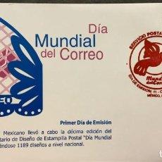 Sellos: O) 2004 MÉXICO, DÍA MUNDIAL DEL CORREO, PALOMA Y BUZÓN, FDC XF. Lote 269970348
