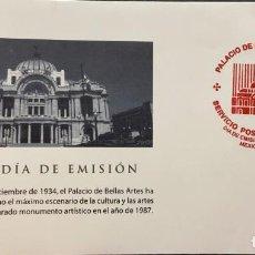 Sellos: O) 2004 MÉXICO, UNESCO, PATRIMONIO MUNDIAL, PALACIO DE BELLAS ARTES, ARQUITECTURA, CULTURA, FDC XF. Lote 269974478