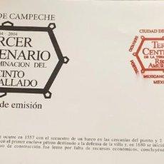 Sellos: O) 2004 MÉXICO, PATRIMONIO CULTURAL DE LA HUMANIDAD, ENCLAVE DE PIEDRA, DISTRITO AMURALLADO DE CAMPE. Lote 269983288