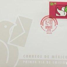 Sellos: O) 2008 MÉXICO, LOGOTIPO, IDENTIFICACIÓN COMERCIAL DE CORREOS DE MÉXICO, PALOMA Y CUBIERTA, FDC XF. Lote 269984743