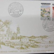 Sellos: O) 1982 MÉXICO, ARTE, PINTURA, BASASEACHIC CASCADA CHIHUAHUA, ZONA SILENCIO DURANGO, TURISMO, FDC XF. Lote 270186788