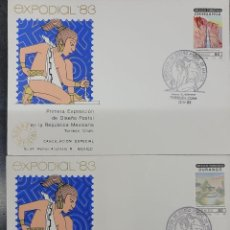 Sellos: O) 1983 MÉXICO, ARTE, PINTURA, BASASEACHIC CASCADE CHIHUAHUA, SILENCIO ZONA DURANGO, TURISMO, ENTERO. Lote 270187533