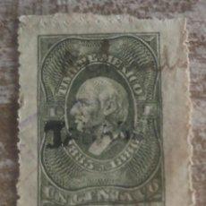 Sellos: MEJICO , MEXICO 1885/1886 TIMBRE FISCAL USADO. Lote 280111463