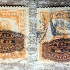 Sellos: MEJICO , MEXICO 1916 - 2 SELLOS SOBRECARGAS. Lote 280114348