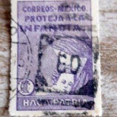 Sellos: MÉXICO MÉJICO, 1929, BENEFICENCIA, TASA POSTAL, USADO. Lote 280142883