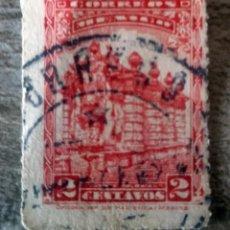 Sellos: MÉXICO MÉJICO, 1923, FUENTE EL SALTO DE AGUA, USADO. Lote 280322978
