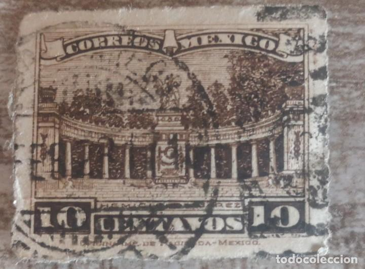 1921 - MEXICO - 10 CENTAVOS MONUMENTO JUAREZ (Sellos - Extranjero - América - México)