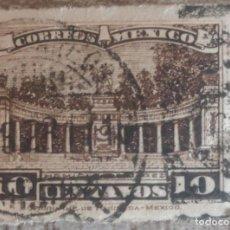 Sellos: 1921 - MEXICO - 10 CENTAVOS MONUMENTO JUAREZ. Lote 280328218