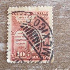 Sellos: SELLO POSTAL MÉXICO 1926, 10 CTS, SEGUNDO CONGRESO POSTAL PANAMERICANO, USADO. Lote 280382538