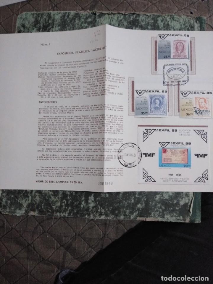 Sellos: 3 folletos conmemorativos. Sellos mexico - Foto 4 - 286908633