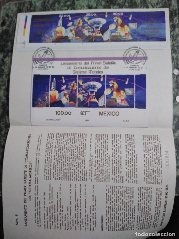 3 FOLLETOS CONMEMORATIVOS. SELLOS MEXICO (Sellos - Extranjero - América - México)