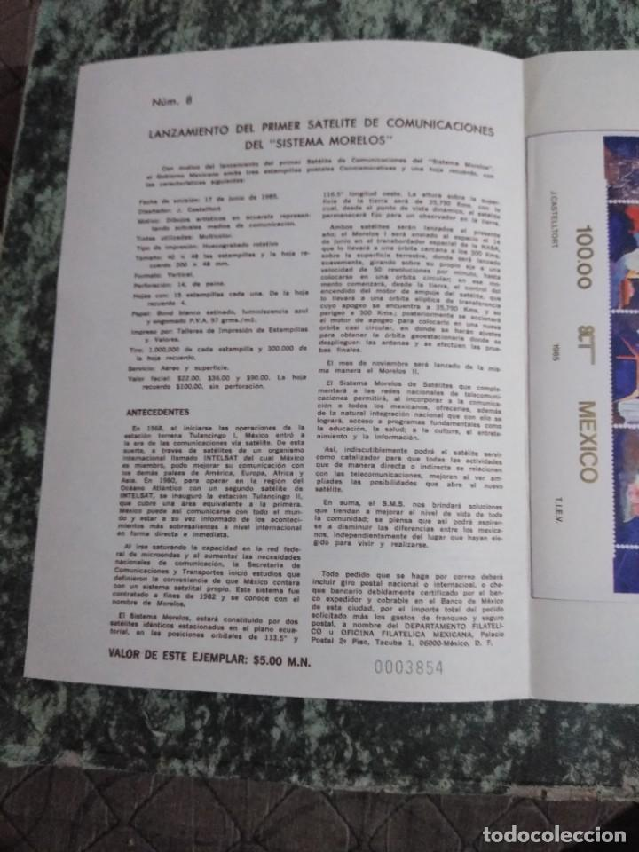 Sellos: 3 folletos conmemorativos. Sellos mexico - Foto 2 - 286908883