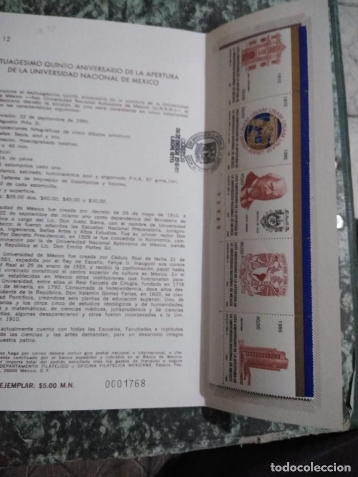 Sellos: 3 folletos conmemorativos. Sellos mexico - Foto 5 - 286908883