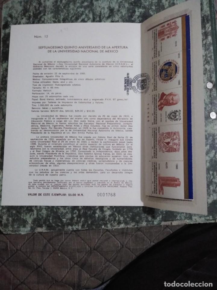 Sellos: 3 folletos conmemorativos. Sellos mexico - Foto 6 - 286908883