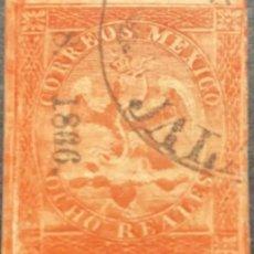 Sellos: O) 1866 MÉXICO, JALAPA, 8 REALES. V PERIODO. XF. Lote 288583508