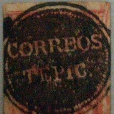 Sellos: O) 1866 MEXICO, TEPIC, 8 REALES. MUTE CANCELLATION. XF. Lote 288584333