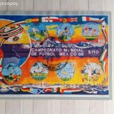 Sellos: SELLOS DE MÉXICO HOJITA CONMEMORATIVA CAMP.FUTBOL AÑO 1986. Lote 290809933
