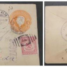 Sellos: O) 1915 MÉXICO, SAIN ALTO CANCELACIÓN, SOBRE, LISTA TORREON, NO RECLAMADA, REZAGOS, HIDALGO 5C, ESCU. Lote 295529703