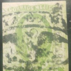 Sellos: O) 1856 MEXICO, CELAYA, 2 REALES GREEN, SCHTZ 1292, ORNAMENTAL EAGLE CANCELLATION. Lote 295550443