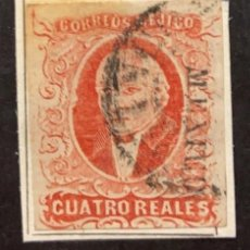 Sellos: O) 1856 MEXICO, 4 REALES. XF. Lote 295550613