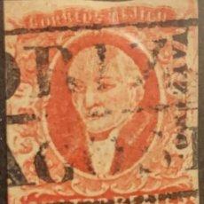 Sellos: O) 1856 MEXICO, ORIZAVA, 4 REALES RED. BOX CANCELLATION IN BLACK. XF. Lote 295552283