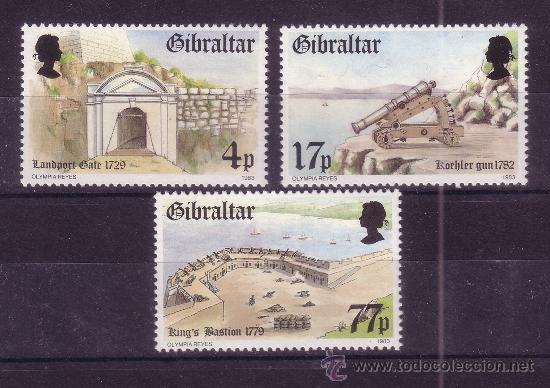 GIBRALTAR 477/79*** - AÑO 1983 - FORTALEZA DE GIBRALTAR (Sellos - Temáticas - Militar)