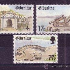 Sellos: GIBRALTAR 477/79*** - AÑO 1983 - FORTALEZA DE GIBRALTAR. Lote 22433376