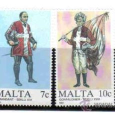 Sellos: MALTA - UNIFORMES MILITARES (I)***. Lote 23757139