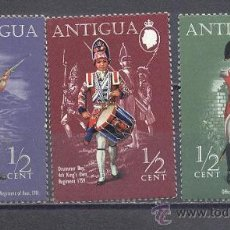 Timbres: ANTIGUA- UNIFORMES MILITARES - NUEVOS. Lote 24542110