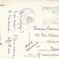 Sellos: FRANCIA, PARACAIDISTAS COLONIALES. BERETS ROUGES (BOINAS ROJAS), MATASELLO DE 16-8-1955. Lote 27659435