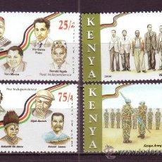 Sellos: KENIA 794/97*** - AÑO 2008 - PERSONAJES - HOMENAJE A LOS HÉROES - SOLDADOS. Lote 28285039