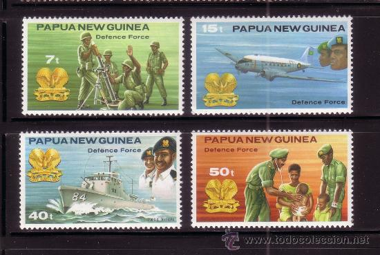 PAPUA 408/11*** - AÑO 1981 - FUERZAS ARMADAS (Sellos - Temáticas - Militar)