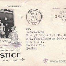 Sellos: CANADA 486, 50 ANIVERSARIO DEL ARMISTICIO DE LA PRIMERA GUERRA MUNDIAL, PRIMER DIA DE 15-10-1968. Lote 34012387
