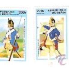 Sellos: SELLOS REPUBLIQUE DU BENIN AÑO 1997 Nº 711/16 UNIFORMES MILITARES . Lote 34374925