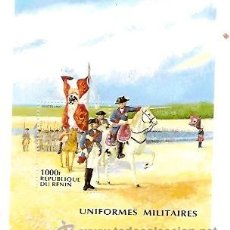 Sellos: SELLOS REPUBLIQUE DU BENIN AÑO 1997 UNIFORMES MILITARES . Lote 34374971
