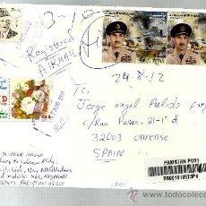 Sellos: SOBRE CERTIIFCADO PAKISTAN 2012 MILITAR NUR KHAN FUNDO FED. HOCKEY Y BADMINTON (VER FOTO DORSO). Lote 34555239