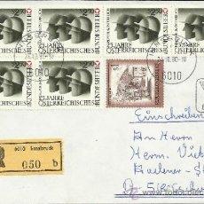 Sellos: AUSTRIA CC CERTIFICADA INNSBRUCK 25 ANIVERSARIO DEL EJERCITO FEDERAL . Lote 34628532