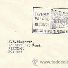 Sellos: INGLATERRA, ELTHAM PALACE, SERVICIO POSTAL DEL EJERCITO BRITANICO, MATASELLO DE 15-6-1970. Lote 35519343