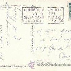 Sellos: ITALIA, EL ALISTAMIENTO VOLUNTARIO A LA MARINA MILITAR CADUCA EL 1-12-1954, MATASELLO DE 22-11-1954. Lote 35692254