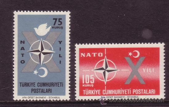 TURQUIA 1614/15** AÑO 1962 - 10º ANIVERSARIO DE LA OTAN (Sellos - Temáticas - Militar)